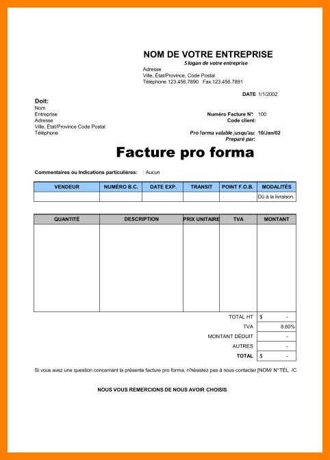 Modele Facture Proforma 27216 Marie Pierre Chazelle